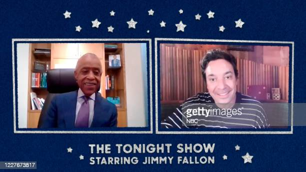 FALLON Episode 1282E Pictured in this screengrab Reverend Al Sharpton during an interview with host Jimmy Fallon on June 18 2020