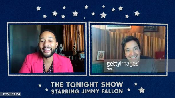FALLON Episode 1283E Pictured in this screengrab Musician John Legend during an interview with host Jimmy Fallon on June 22 2020