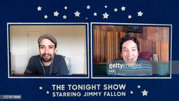 FALLON Episode 1284E Pictured in this screengrab Composer LinManuel Miranda during an interview with host Jimmy Fallon on June 23 2020