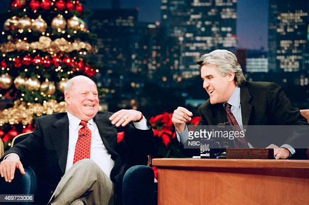 Comedian Don Rickles during an interview with Jay Leno on December 16 1997