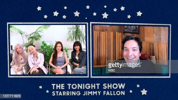 FALLON Episode 1287E Pictured in this screengrab Musical guest Blackpink during an interview with host Jimmy Fallon on June 26 2020