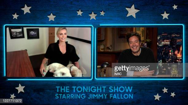 FALLON Episode 1288A Pictured in this screengrab Actress Charlize Theron during an interview with host Jimmy Fallon on July 13 2020