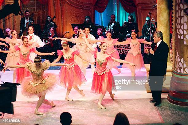Host Jay Leno watches as the cast of The Nutcracker performs on December 22 1997
