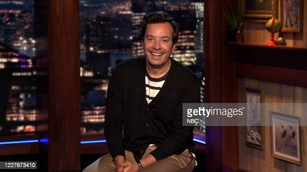 FALLON Episode 1290A Pictured in this screengrab Host Jimmy Fallon delivers the monologue on July 15 2020