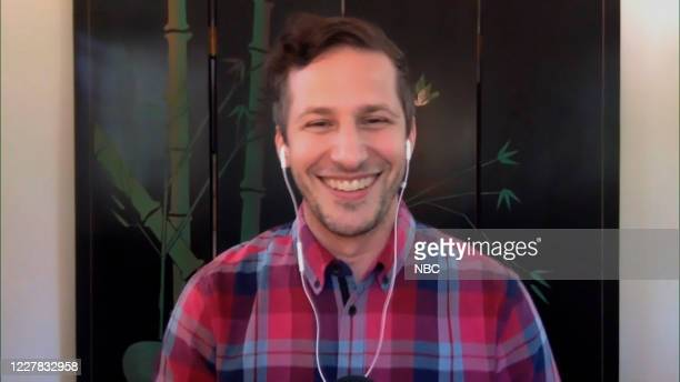 Episode 1293A -- Pictured in this screengrab: Actor Andy Samberg during an interview on July 21, 2020 --