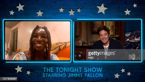 FALLON Episode 1295A Pictured in this screengrab Actress Michaela Coel during an interview with host Jimmy Fallon on July 23 2020
