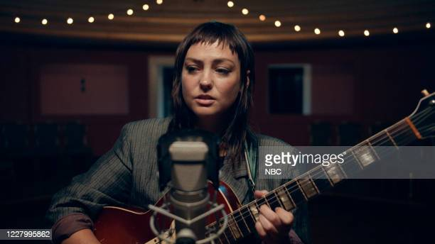 Episode 1297A -- Pictured in this screengrab: Musical guest Angel Olsen performs on July 28, 2020 --