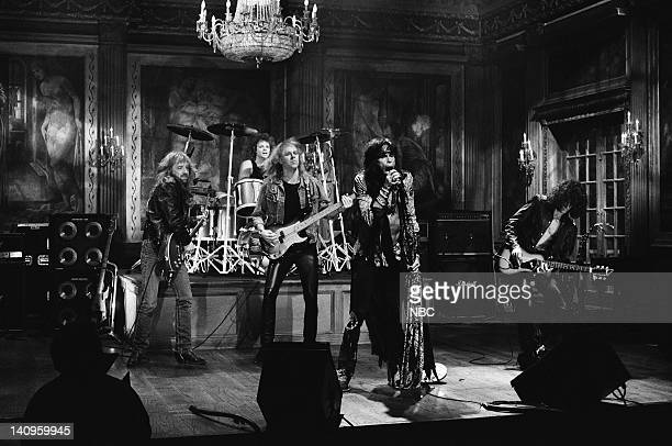 LIVE Episode 13 Air Date Pictured Musical guest Aerosmith performs on February 17 1990 Photo by Alan Singer/NBCU Photo Bank