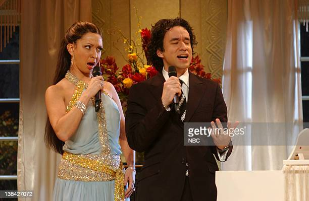 LIVE Episode 13 Aired Pictured Maya Rudolph as Jennifer Lopez Fred Armisen as Marc Anthony during After the Grammys skit