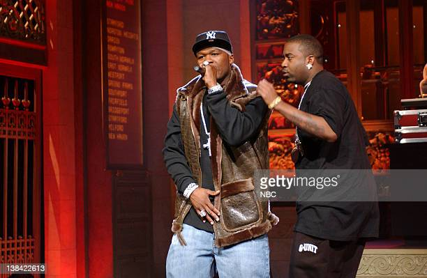 LIVE Episode 13 Aired Pictured Musical guest 50 cent performs onstage