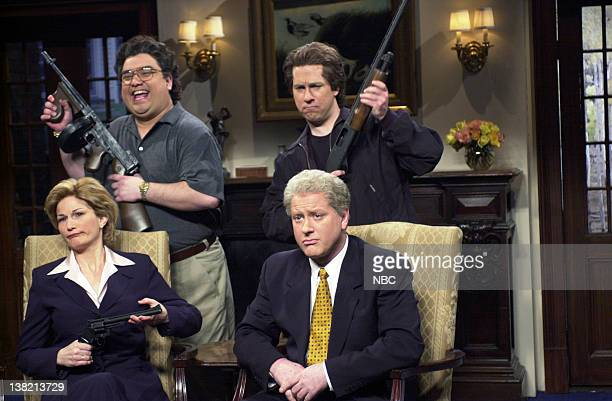 LIVE Episode 13 Aired Pictured Ana Gasteyer as Hillary Clinton Horatio Sanz as Hugh Rodham Chris Parnell as Roger Clinton Darrell Hammond as Bill...