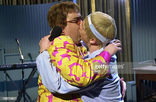 LIVE Episode 13 Aired Pictured Horatio Sanz as Elton John Chris Parnell as Eminem during 'Weekend Update'