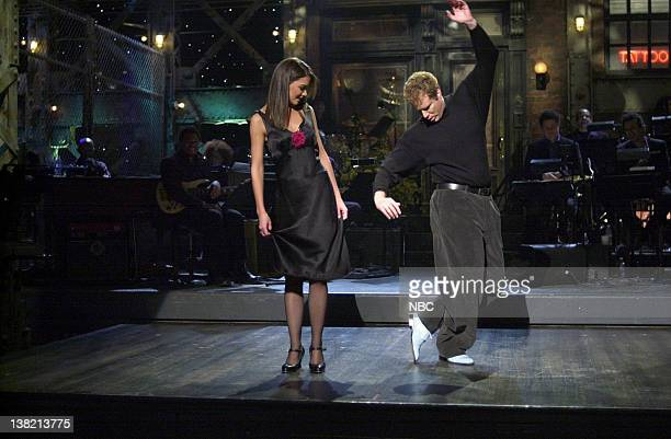 LIVE Episode 13 Aired Pictured Katie Holmes Will Ferrell during the monologue