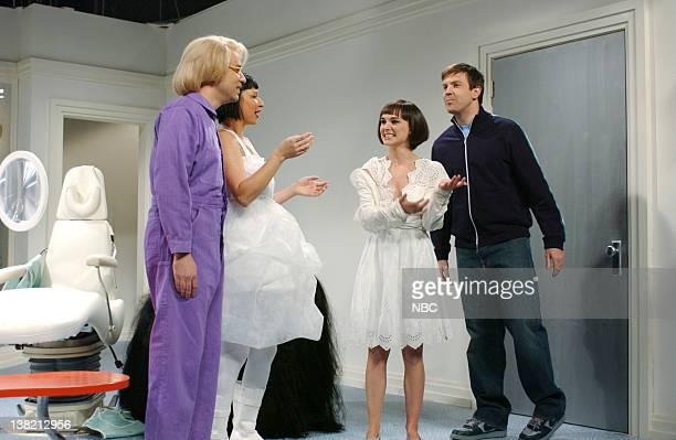 LIVE Episode 13 Aired Pictured Fred Armisen as Nuni Schoener Maya Rudolph as nuni Schoener Natalie Portman as Nunni Jason Sideikis as Jeff during...