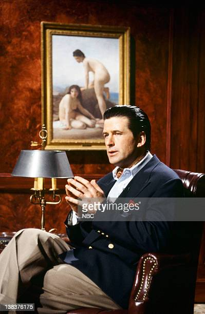 Alec Baldwin as Alistair Reems during the 'Naked Woman Theatre' skit on February 13 1983