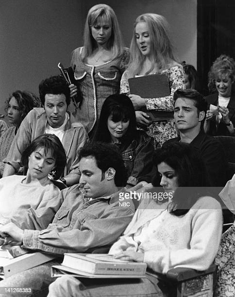 Dana Carvey as Dylan Victoria Jackson as Kelly Jason Priestley as Brandon Melanie Hutsell as Donna Julia Sweeney as Brenda during Beverly Hills 90210...