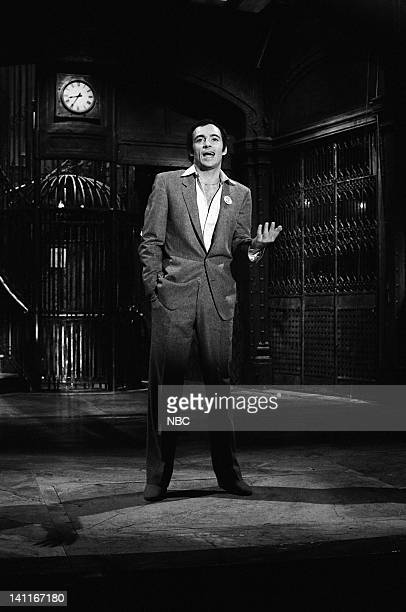 Host Ray Sharkey during the monologue on April 11 1981 Photo by Fred Hermansky/NBC/NBCU Photo Bank