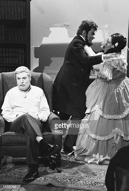 Mike Myers as Shelby Foote Phil Hartman as Abraham Lincoln Roseanne Barr as Mary Todd Lincoln during A Presidents' Day Remembrance skit on February...