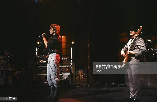 Musical Guest The Fixx performs on February 18 1984 Photo by Reggie Lewis/NBC/NBCU Photo Bank