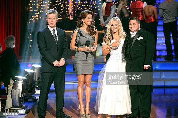 """Episode 1306A"""" - Chaz Bono and Lacey Schwimmer were eliminated, as determined by a combination of the judges' scores and viewers' votes on dances..."""