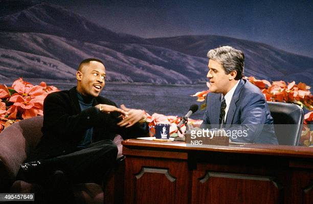 Actor Martin Lawrence during an interview with host Jay Leno on December 16 1992