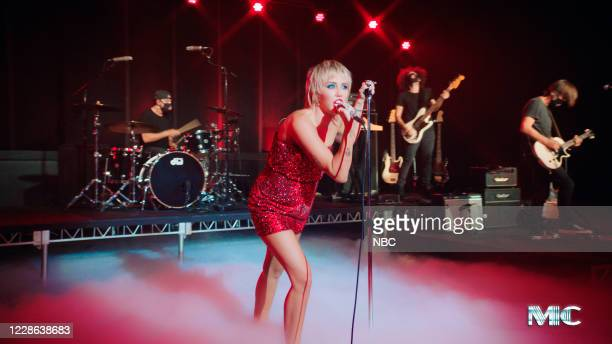 Episode 1314A -- Pictured in this screengrab: Musical guest Miley Cyrus performs on September 10, 2020 --