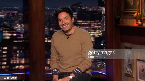 Episode 1318A -- Pictured in this screengrab: Host Jimmy Fallon during the monologue on September 16, 2020 --
