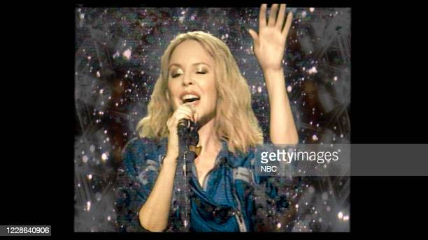 FALLON Episode 1318A Pictured in this screengrab Musical guest Kylie Minogue performs on September 16 2020