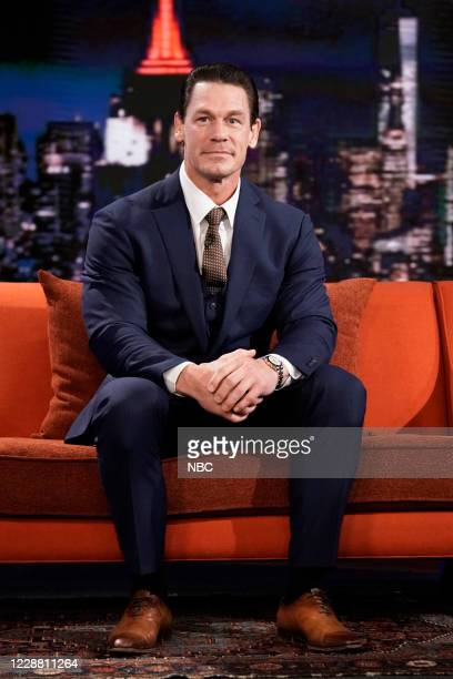Episode 1327A -- Pictured: Actor John Cena during an interview on September 29, 2020 --