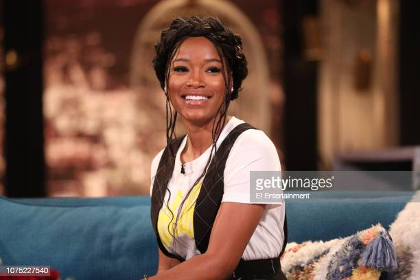 Keke Palmer on the set of Busy Tonight