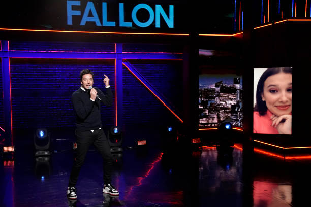"NY: NBC's ""Tonight Show Starring Jimmy Fallon"" with guests 					Adam Sandler, Millie Bobby Brown, BTS"