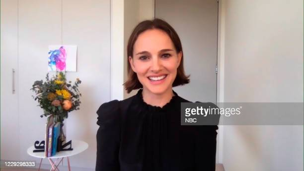 Episode 1337A -- Pictured in this screengrab: Actress Natalie Portman during an interview on October 20, 2020 --