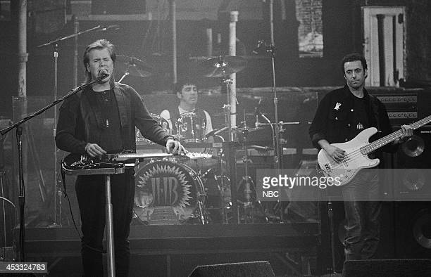 Episode 134 -- Pictured: Musical guest Jeff Healey performs on December 21, 1992 --