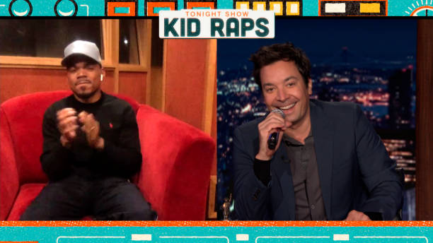 """NY: NBC's """"Tonight Show Starring Jimmy Fallon"""" with guests Chance The Rapper, Erin Andrews, G HERBO X CHANCE THE RAPPER"""