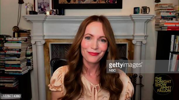 Episode 1359A -- Pictured in this screengrab: Actress Leslie Mann during an interview on November 20, 2020 --