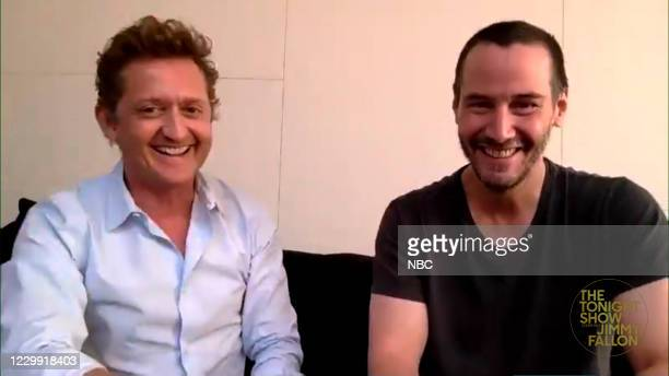 Episode 1365A -- Pictured in this screengrab: Actors Alex Winter and Keanu Reeves during an interview on December 1, 2020 --