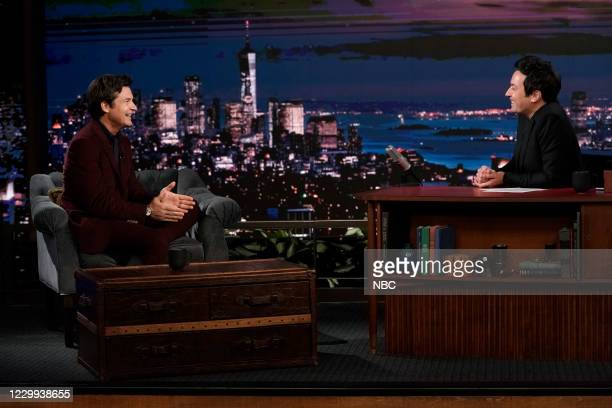 Episode 1367A -- Pictured: Actor Jason Bateman during an interview with host Jimmy Fallon on December 3, 2020 --