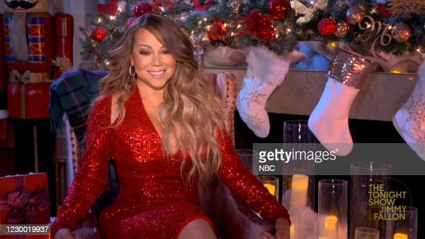 Episode 1369A -- Pictured in this screengrab: Singer Mariah Carey during an interview on December 7, 2020 --