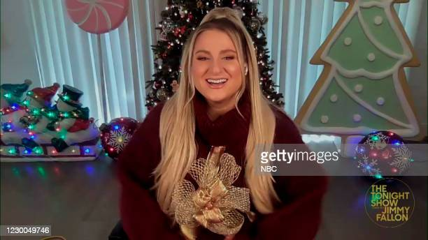 Episode 1371A -- Pictured in this screengrab: Singer Megan Trainor during an interview on December 9, 2020 --