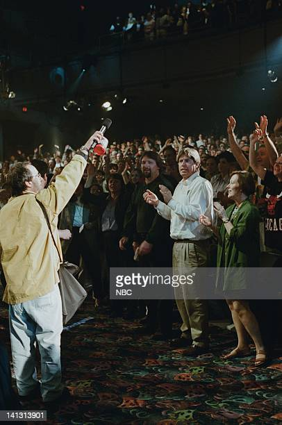 Episode 1373 -- Air Date -- Pictured: Audience warm up comedian Bob Perlow on May 4, 1998 -- Photo by: NBCU Photo Bank