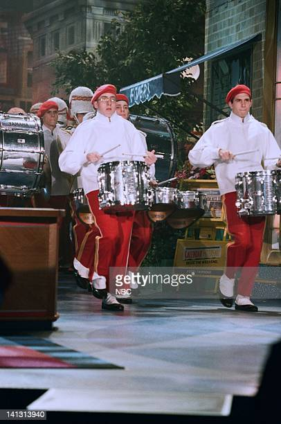 Episode 1373 -- Air Date -- Pictured: Chicago Police Department Pipes and Drums band perform on May 4, 1998 -- Photo by: NBCU Photo Bank