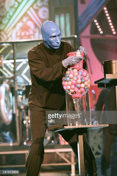 Episode 1373 -- Air Date -- Pictured: Performance artists Blue Man Group perform on May 4, 1998 -- Photo by: NBCU Photo Bank