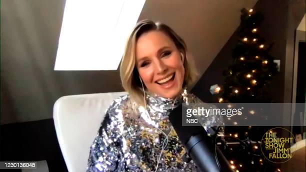 Episode 1373A -- Pictured in this screengrab: Actress Kristen Bell during an interview on December 11, 2020 --