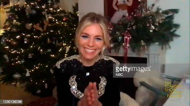 Episode 1373A -- Pictured in this screengrab: Actress Sienna Miller during an interview on December 11, 2020 --
