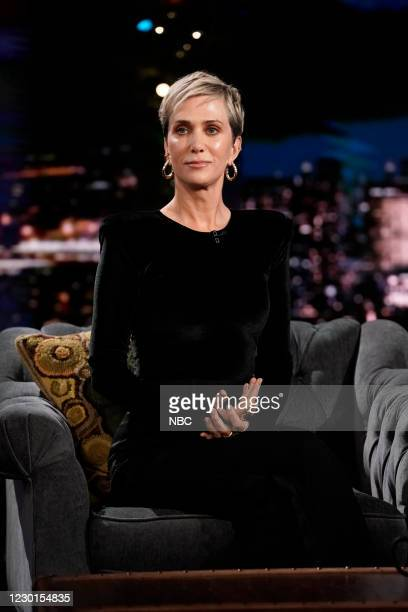 Episode 1375A -- Pictured: Actress Kristen Wiig during an interview on December 15, 2020 --