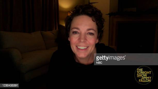 Episode 1378A -- Pictured in this screengrab: Actress Olivia Coleman during an interview on December 18, 2020 --