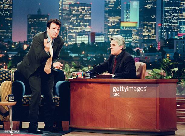 Actor Hank Azaria host Jay Leno during an interview on June 10 1998