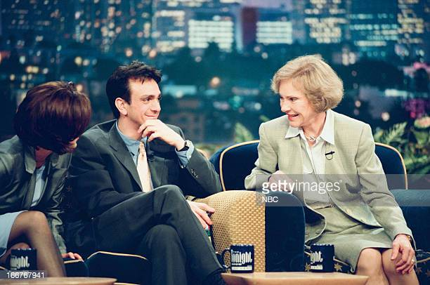 Actress Gillian Anderson actor Hank Azaria former First Lady Rosalynn Carter on June 10 1998