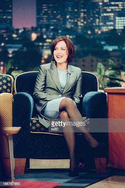 Actress Gillian Anderson during an interview on June 10 1998