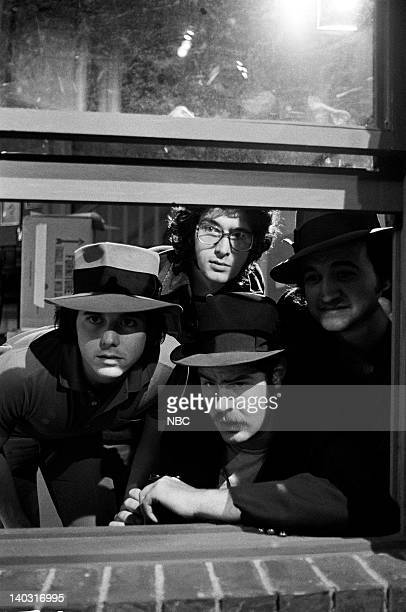 LIVE Episode 14 Air Date Pictured Desi Arnaz Jr as Youngblood Tom Davis as Lee Dan Aykroyd as Eliot Ness John Belushi as Rico during The Untouchables...